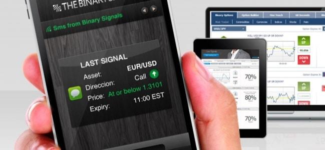 Sinais de Opções Binárias no celular