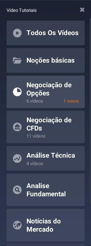 videos tutoriais IQ Option