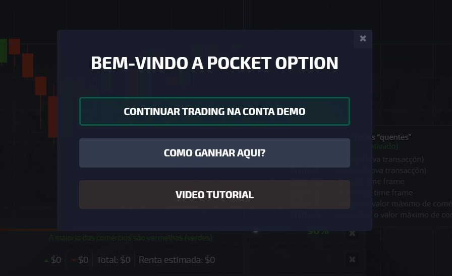 conta demo pocket option