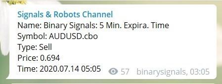 exemplo de sinais telegram
