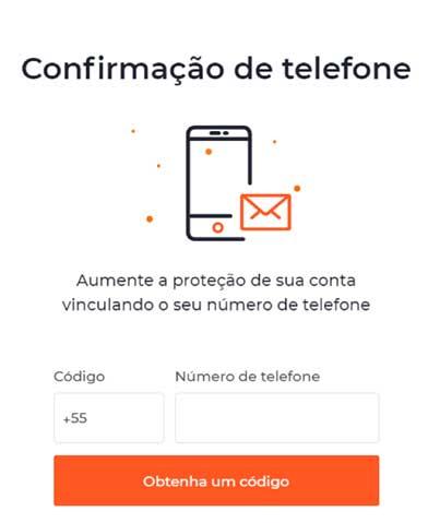 iq option confirmação telefone