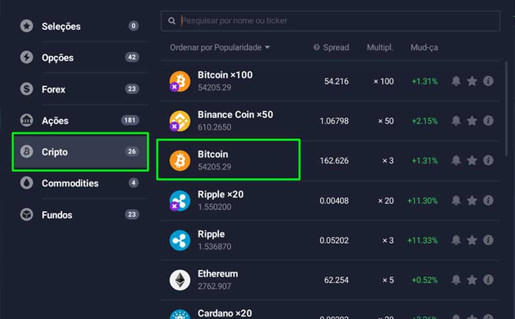bitcoin no iq option